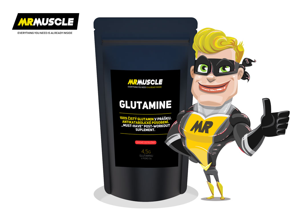 MR.MUSCLE GLUTAMINE - divoká ostružina