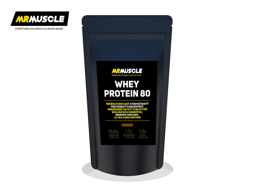 MR.MUSCLE WHEY PROTEIN 80 - čokoláda